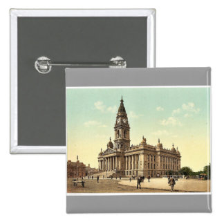 Town Hall, Portsmouth, England rare Photochrom Pins
