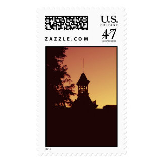 Town Hall Silhouette Postage Stamp