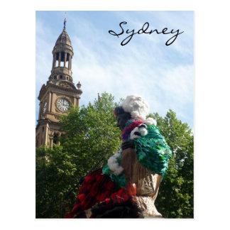 town hall sydney post card