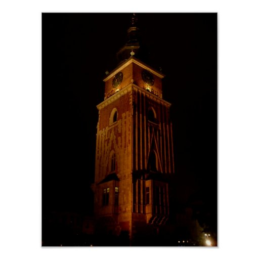 Town Hall Tower Print