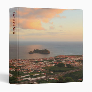 Town in the Azores 3 Ring Binder