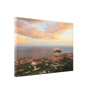 Town in the Azores Canvas Print