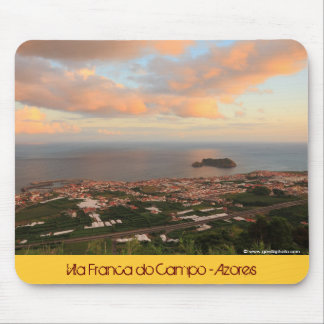 Town in the Azores Mouse Pad