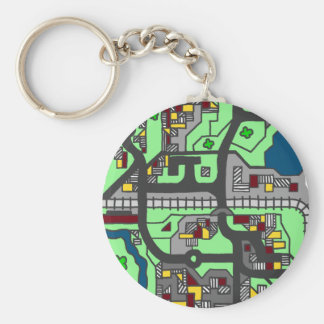 Town Map Keychain