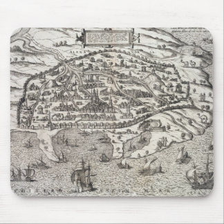 Town map of Alexandria in Egypt, c.1625 (engraving Mouse Pad