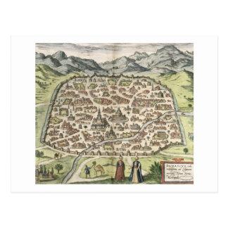 Town map of Damascus, Syria, 1620 (engraving) Postcard