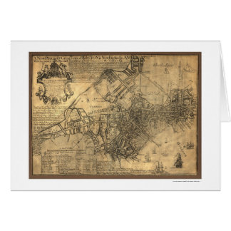 Town of Boston Map - 1769 Card