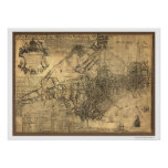 Town of Boston Map - 1769 Poster