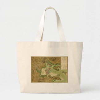Town of Boston Map by Thomas Hyde Page (1776) Large Tote Bag