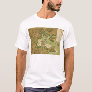 Town of Boston Map by Thomas Hyde Page (1776) T-Shirt
