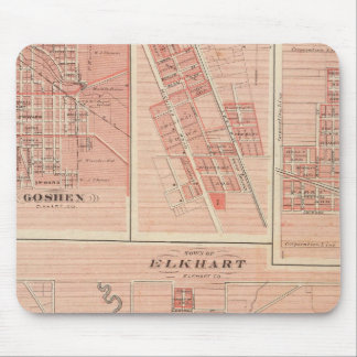 Town of Elkhart, Elkhart Co with Goshen Mouse Pad