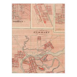 Town of Elkhart, Elkhart Co with Goshen Postcard