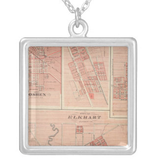Town of Elkhart, Elkhart Co with Goshen Silver Plated Necklace