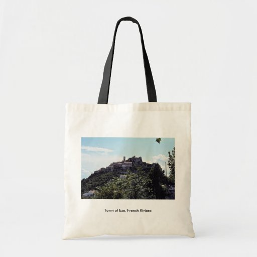 Town of Eze, French Riviera Canvas Bag