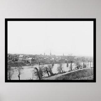 Town of Fredericksburg, VA 1863 Poster