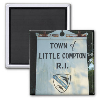 Town of Little Compton, RI wooden sign Magnet