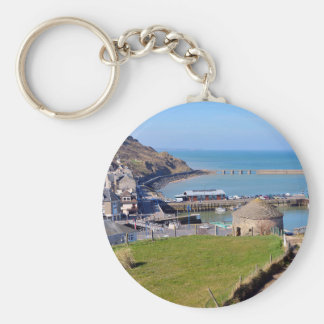 Town of Port-en-Bessin in France Keychain