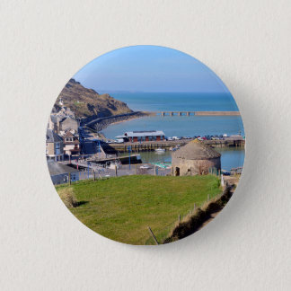 Town of Port-en-Bessin in France Pinback Button