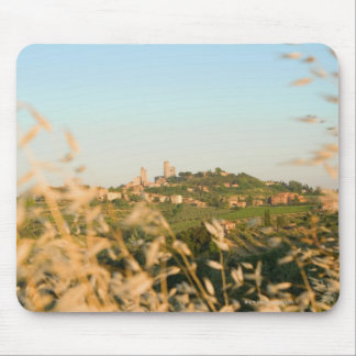 Town on a hill, San Gimignano, Siena Province, 2 Mouse Pad