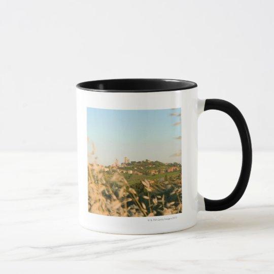 Town on a hill, San Gimignano, Siena Province, 2 Mug