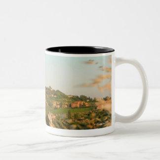 Town on a hill, San Gimignano, Siena Province, 2 Two-Tone Coffee Mug
