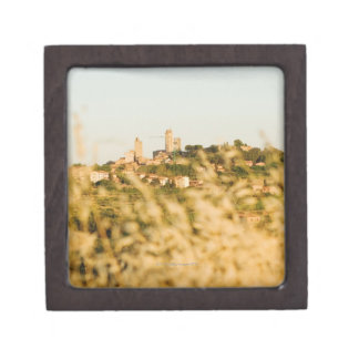 Town on a hill, San Gimignano, Siena Province, Jewelry Box