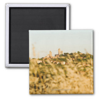 Town on a hill, San Gimignano, Siena Province, Magnet