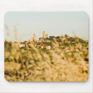 Town on a hill, San Gimignano, Siena Province, Mouse Pad