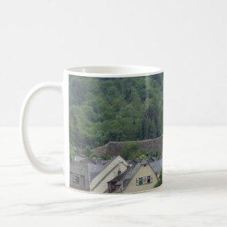 Town on the Rhine mug