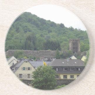 Town on the Rhine Sandstone Coaster