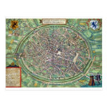 Town Plan of Bruges, from 'Civitates Orbis Terraru Postcard