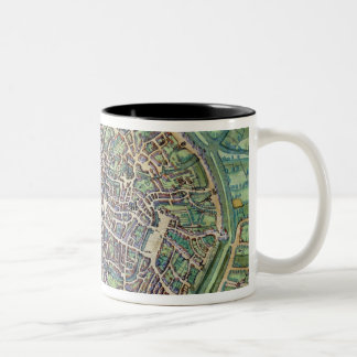 Town Plan of Bruges, from 'Civitates Orbis Terraru Two-Tone Coffee Mug