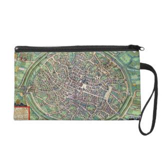 Town Plan of Bruges, from 'Civitates Orbis Terraru Wristlet Purse
