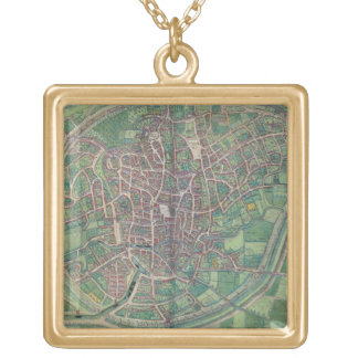 Town Plan of Brussels, from 'Civitates Orbis Terra Jewelry