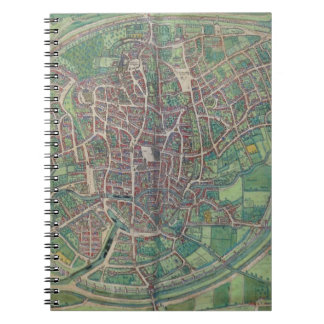 Town Plan of Brussels, from 'Civitates Orbis Terra Spiral Note Books