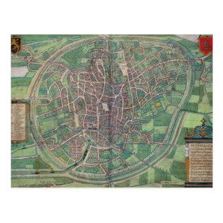 Town Plan of Brussels, from 'Civitates Orbis Terra Postcard