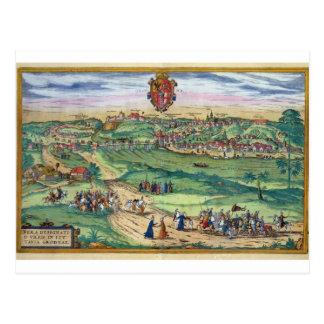 Town Plan of Grodno, from 'Civitates Orbis Terraru Postcard
