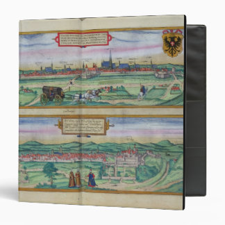 Town Plan of Vienna and Buda, from 'Civitates Orbi 3 Ring Binder