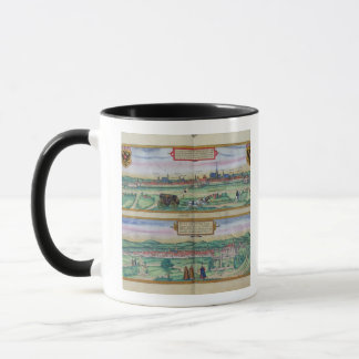 Town Plan of Vienna and Buda, from 'Civitates Orbi Mug