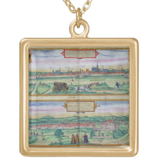 Town Plan of Vienna and Buda, from 'Civitates Orbi Necklaces