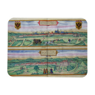 Town Plan of Vienna and Buda, from 'Civitates Orbi Magnets