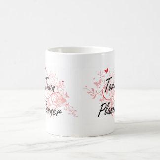 Town Planner Artistic Job Design with Butterflies Coffee Mug