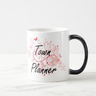 Town Planner Artistic Job Design with Butterflies Magic Mug