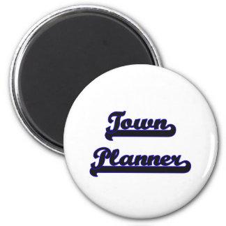 Town Planner Classic Job Design 2 Inch Round Magnet