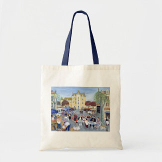 Town Square in Burgundy Tote Bag