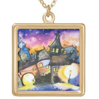 Town Square Pendant Necklace