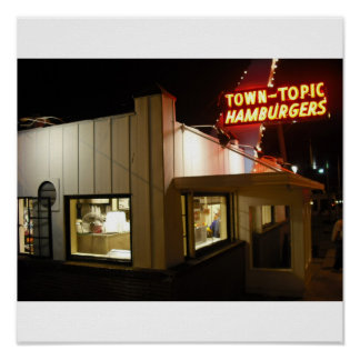 Town Topic Hamburgers Poster