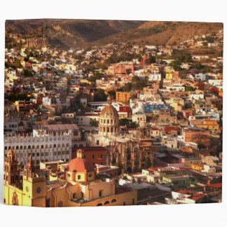 Town View From Above 3 Ring Binder