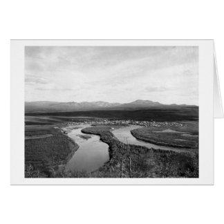 Town View of Iditarod, Alaska Photograph Greeting Card