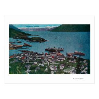 Town View of Wrangell, AlaskaWrangell, AK Postcard